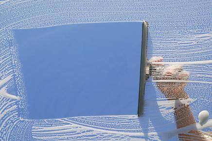 Afbeelding glasbewassing, ramen wassen